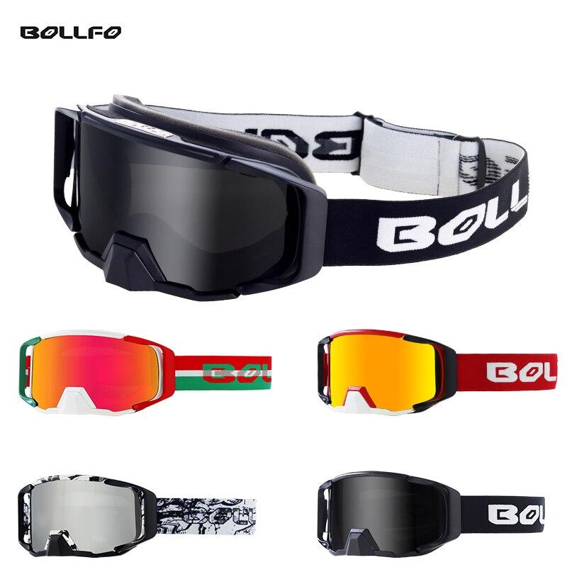 BOLLFO Goggles Dirt Bike DH Motocross Goggle Motorcycle Riding MX ATV Off-Road Ski Sport Glasses Windproof Eyewear