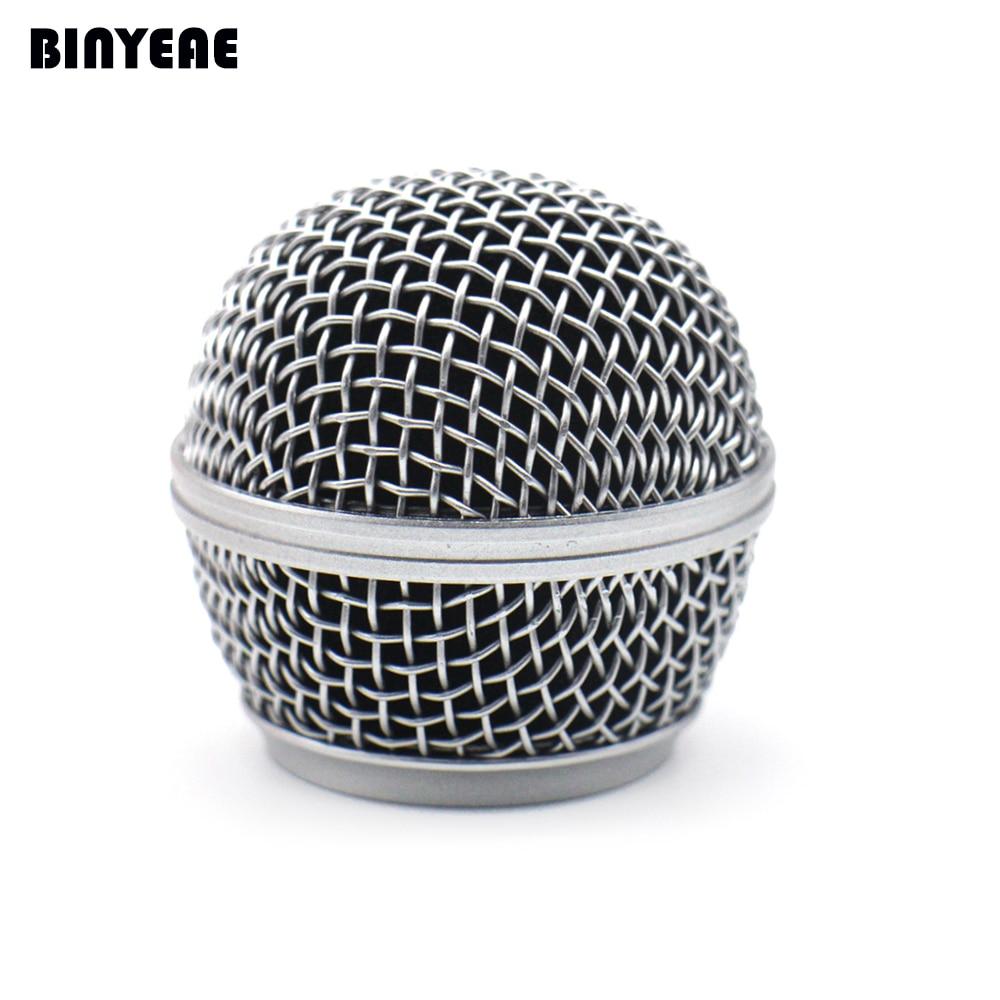 Malla de parrilla de cabeza de micrófono SM 58 para Shure SM58, SM58S SM58LC SLX2 MICRÓFONO INALÁMBRICO Y cardioide cableado legendario micrófono Vocal, plateado