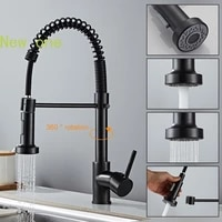 hot cold water mixer sprayer tap black mixer tap kitchen faucets deck mounted mixer tap spring pull down single hole sink