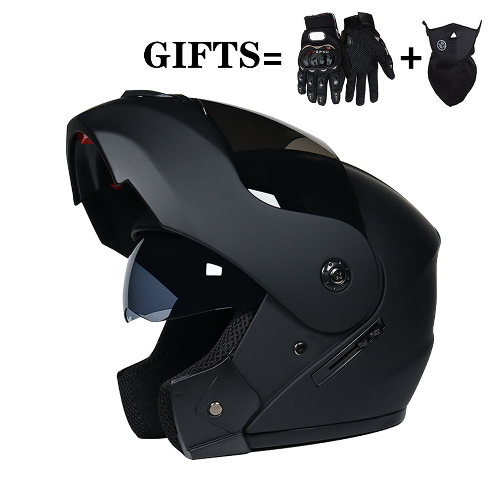 2 Gifts Unisex Men Women Racing Motocross Modular Dual Lens Motorcycle Full Face Safe Helmet Flip Up Cascos Para Moto enlarge