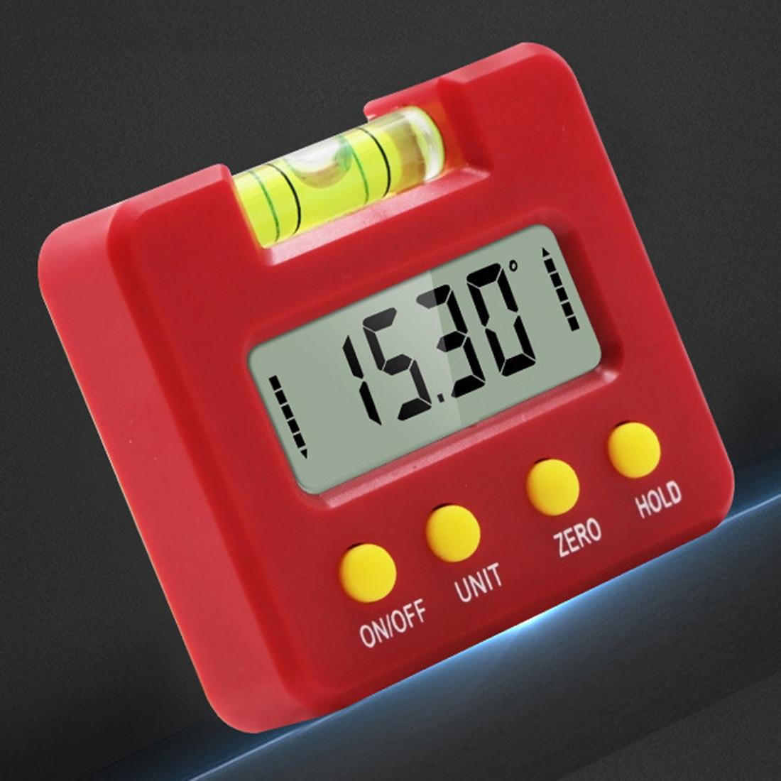 Peças da oficina da liga de alumínio do inclinômetro de digitas preto mini transferidor
