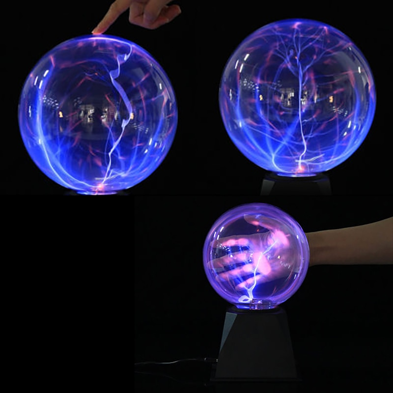 Crystal Plasma Ball Night Light Magic Glass Sphere Novelty Lightning Table Levitating Lamp Lifesmart 6 Inch 8