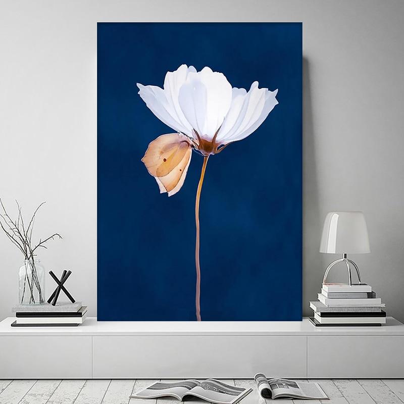 Póster de animales con diseño de mariposas y flores de arte confiable para el hogar, decoración de pared para sala de estar, carteles e impresiones sin marco
