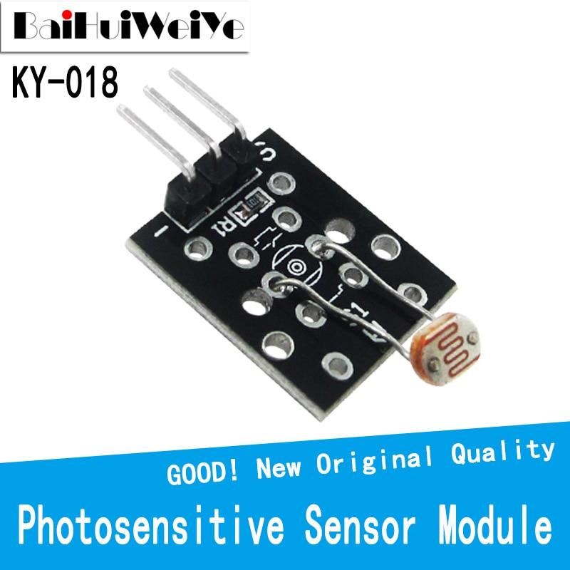 KY018 3pin Optical Sensitive Resistance Light Detection Photosensitive Sensor Module for arduino DIY Kit KY-018 5v light photoswitch sensor switch ldr photoresistor relay module light detection photosensitive sensor board