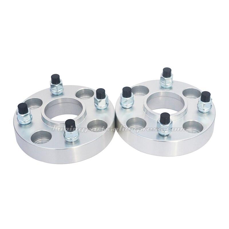 2 unids/lote 25/30mm de espesor PCD 4x100-54.1Wheel ampliado brida rueda de coche espaciador para Geely MK FC visión