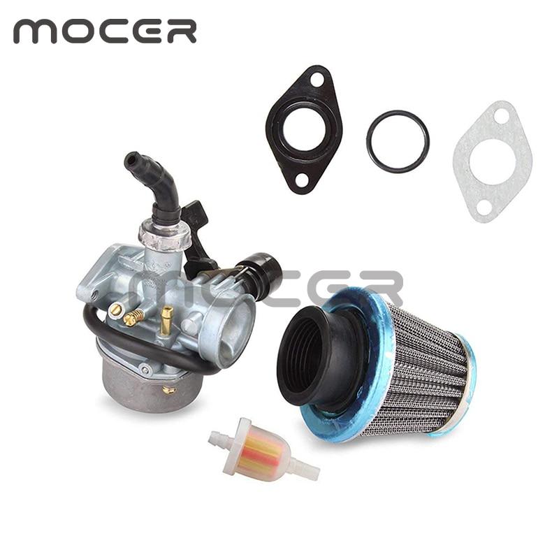 Carburador de carburador RD 70CC 90CC 110CC PZ19 con estrangulador de Cable y filtro de aire para motocicleta ATV