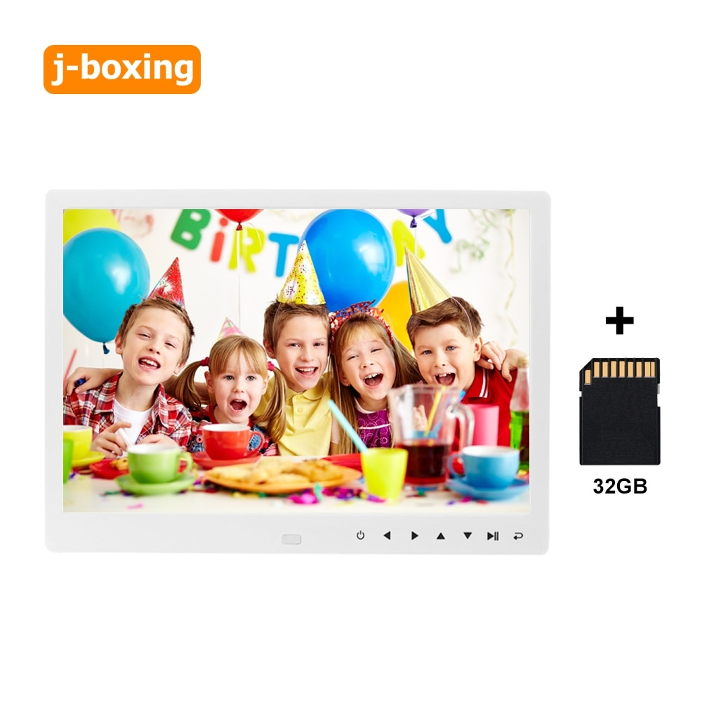 12 Inch Digital Picture Frame with Touch Screen high resolution LCD display Email, iOS and Android app, DLNA with 32gb TF Card