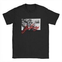 Men Retro Vintage Johnny Hallyday T-Shirt Rocker Tribute Retro Round Neck Short Sleeve T-shirts And Blouses 100% Cotton T-Shirts
