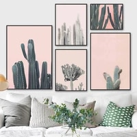 desert hero cactus succulent plant wall art canvas painting nordic posters and prints wall pictures for living room home decor