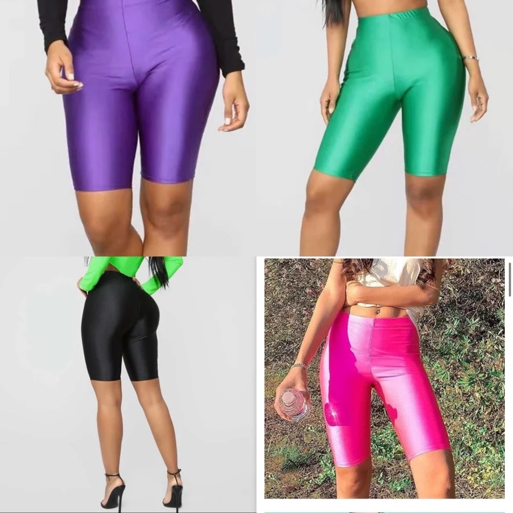 2021New High Waist Sports Shorts Women Biker Shorts Summer Casual Sexy Skinny Fitness Solid Bodycon Cycling Slim Bottoms