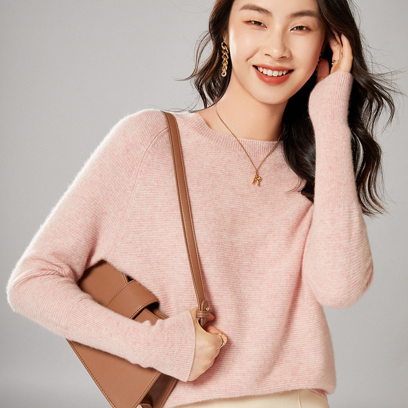 2021 woman winter 100% Cashmere sweaters knitted Pullovers jumper Warm Female O-neck blouse blue long sleeve clothing enlarge