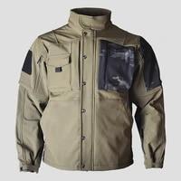 men outdoor jacket climbing hunting hiking winter warm soft shell fleece windproof coat army fan tactical military cloth