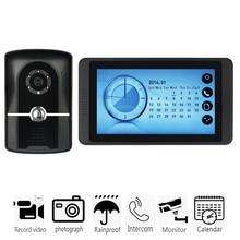 "7"" Color LCD Wired Video Doorbell Door Phone Night Vision 1000TVL Camera Visual Intercom Home Videophones Interphone"