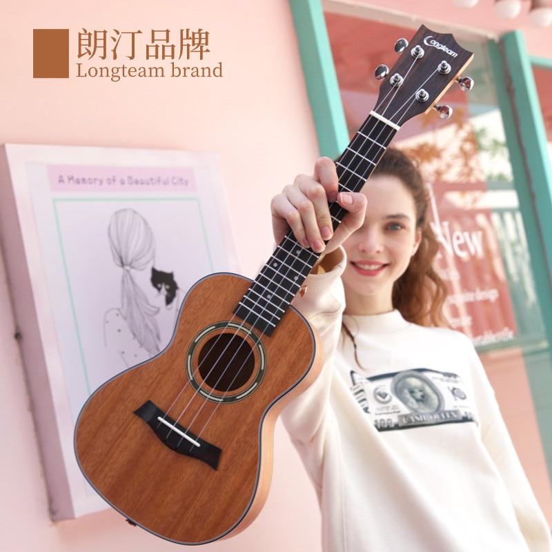 26 Inch Ukulele Mahogany Surface Ukulele Soprano Beginner Ukulele Guitar Music Instruments Bass 4 String Hawaiian Guitarra enlarge