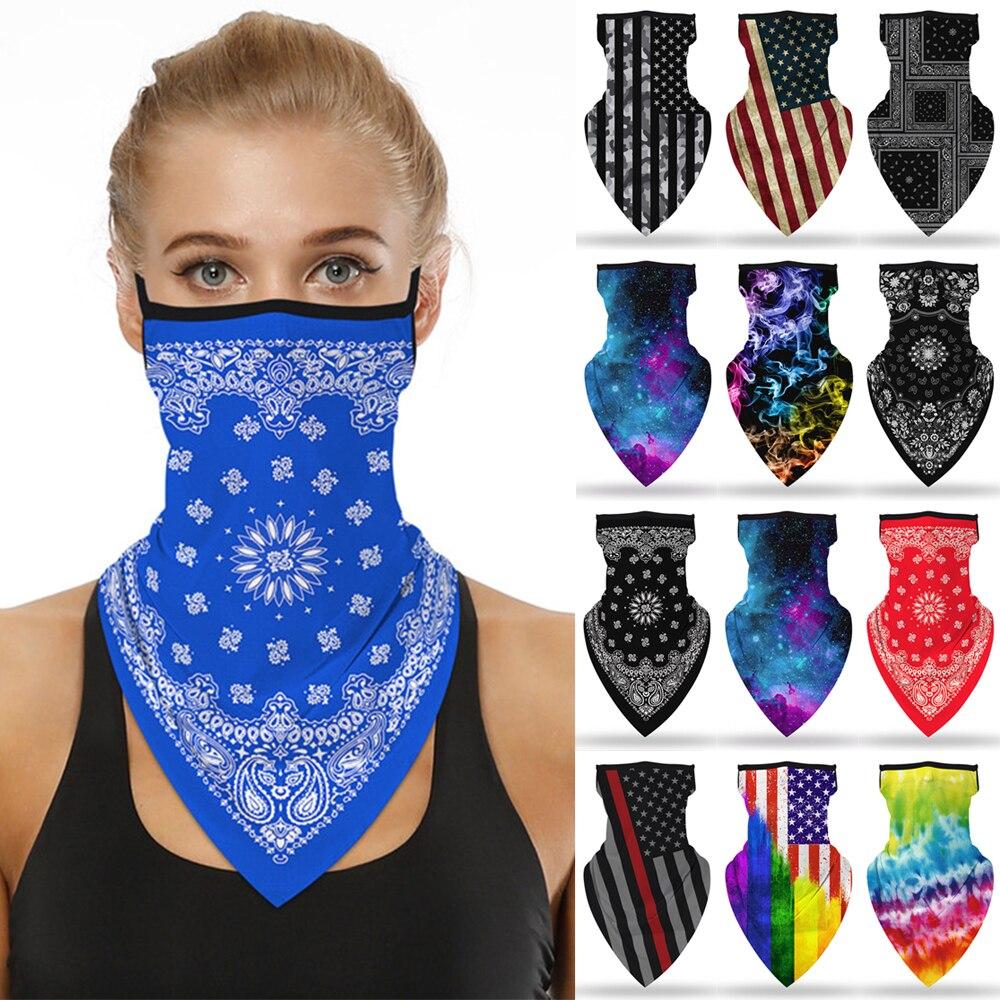 Bufanda 2020 pañuelo triangular oreja colgante transpirable de secado rápido colorida diadema estampada tubo cuello funda de polaina hombres y niñas