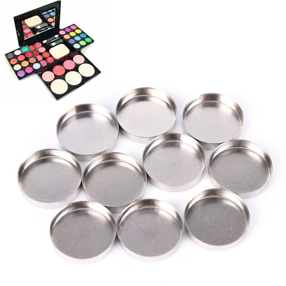 ¡Oferta! 10 Uds caja de maquillaje grande profesional Etiqueta Privada patrón completo bandejas de relleno paleta de sombra de ojos magnética vacía