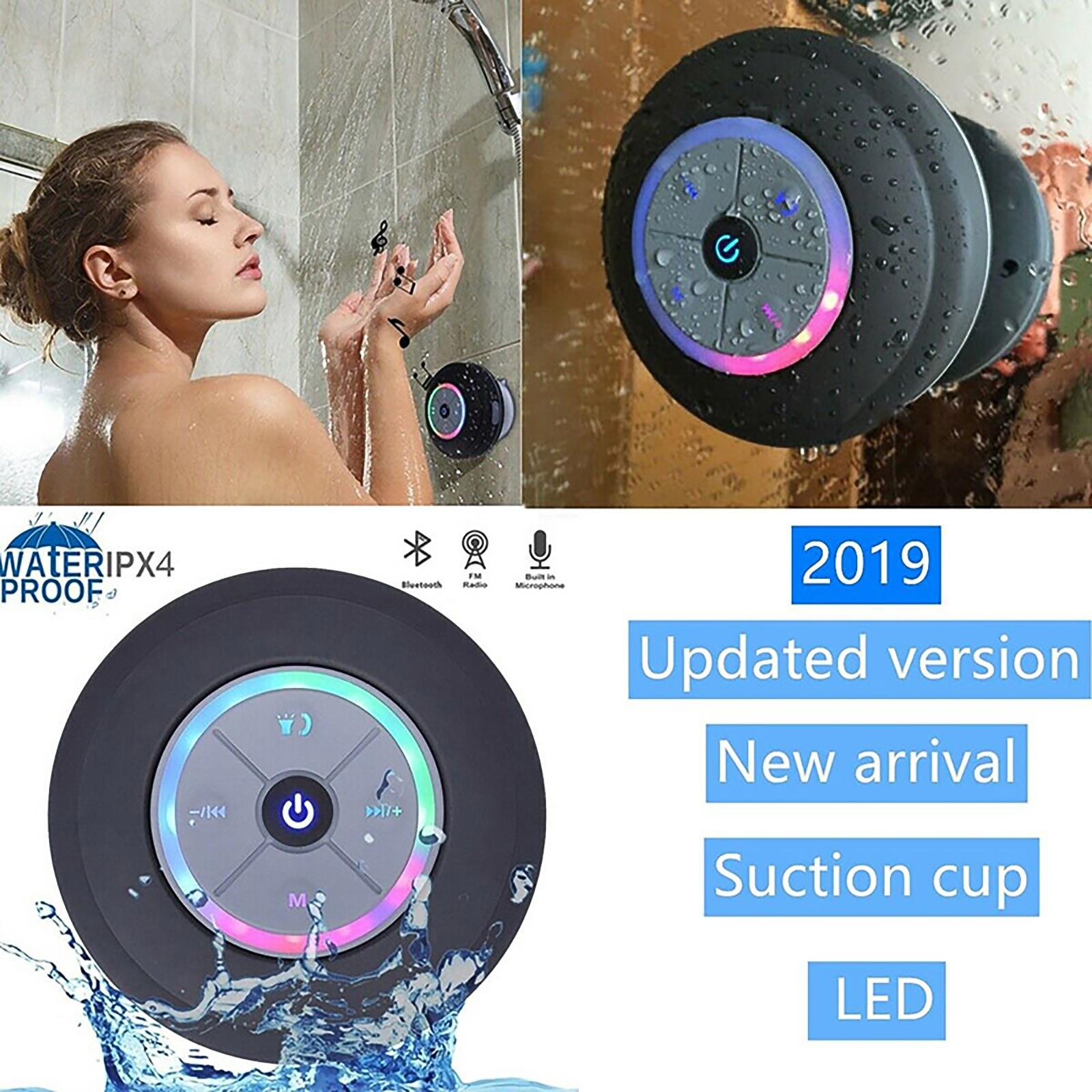 Wireless Portable Bluetooth Speaker Waterproof Bluetooth Shower Speaker Hands-Free Car Portable Speaker Card Reader And FM Radio
