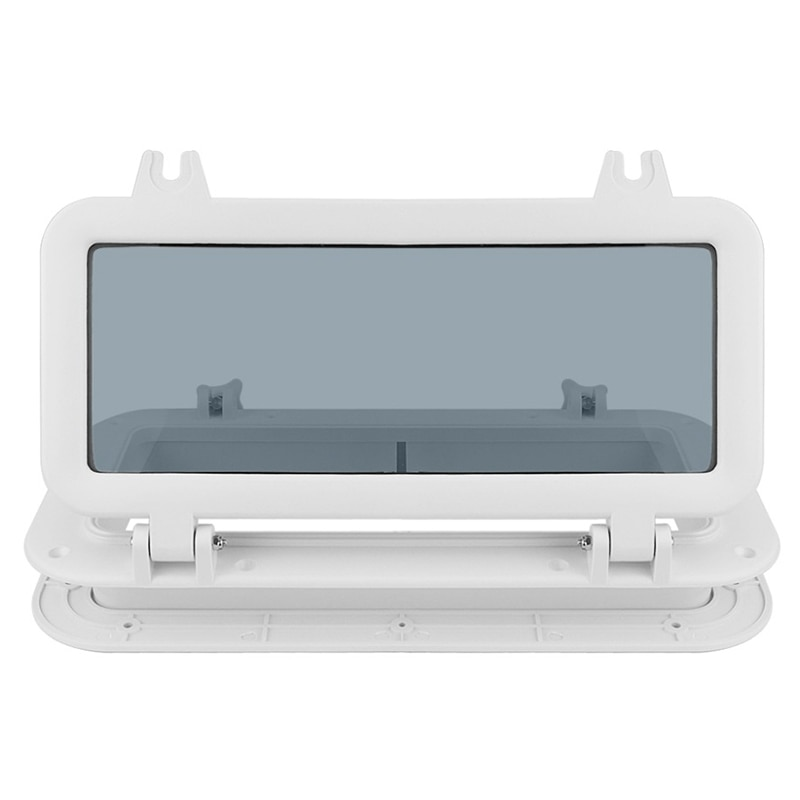 ¡Oferta! Barco náutico RV Porthole ABS plástico Rectangular Hatches Puerto luces reemplazo impermeable ventanas Puerto Portlight