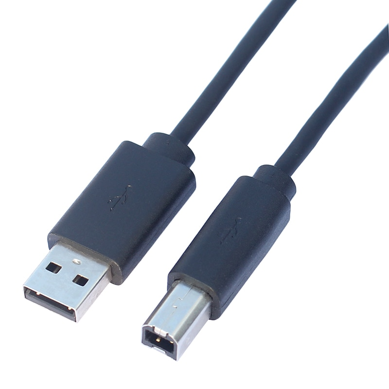 usb 3 0 type a male to usb b male USB 2.0 Printer Cable Type A Male to B Male Cord 1.75m/6ft Black Color