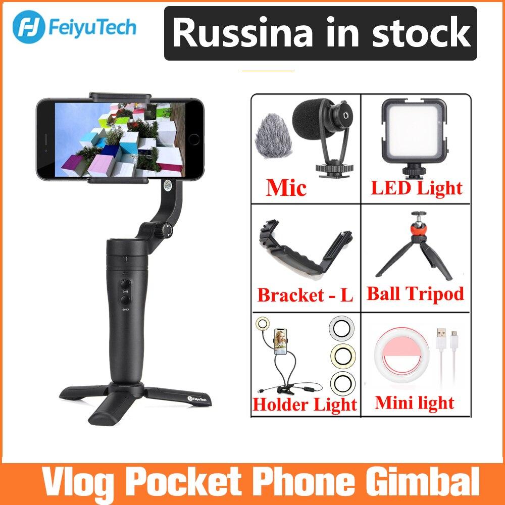 Feiyu Vlog Pocket Handheld Phone Gimbal Smartphone Stabilizer for iPhone 11/11 Pro/Samsung/Huawei,phone stabilizer New/Original