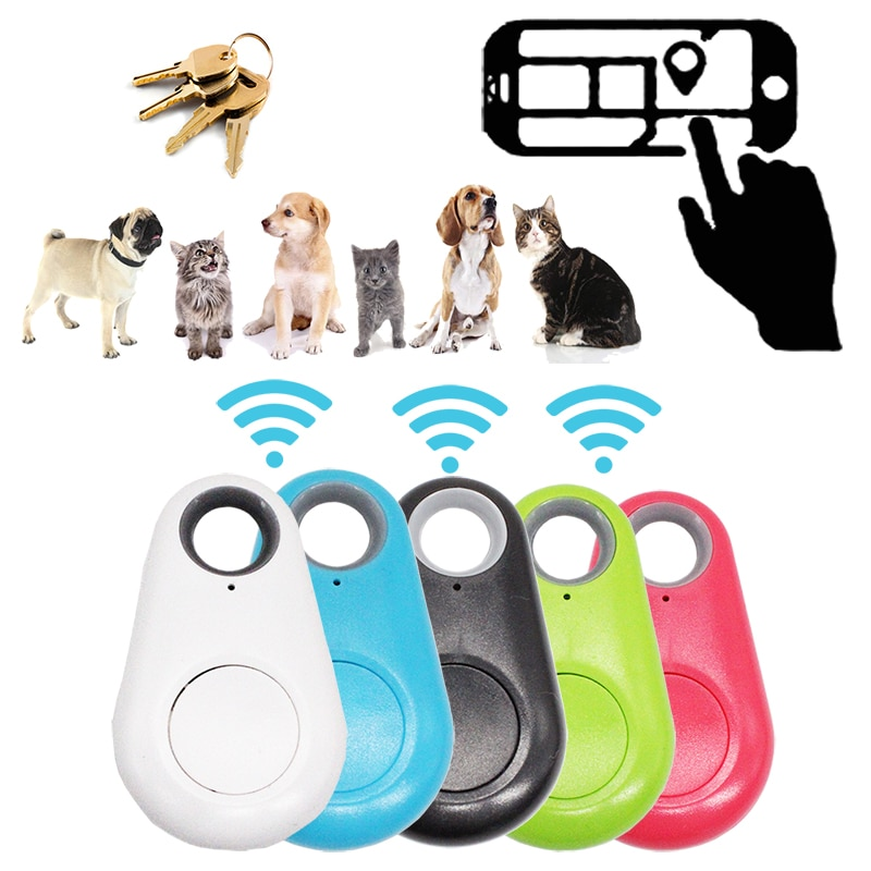 Mini Fashion Smart Dog Pets Bluetooth 4.0 GPS Tracker Anti-lost Alarm Tag Wireless Child Bag Wallet Key Finder Locator
