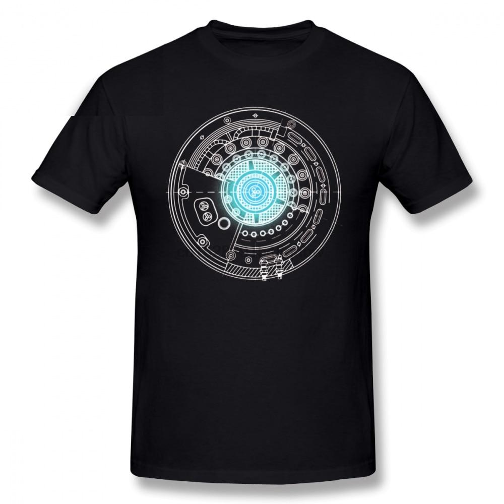 Camiseta para hombre de Stark Industries, camiseta de Reactor de pecho, impresionante camiseta impresa, camiseta Casual 100% de algodón para hombre
