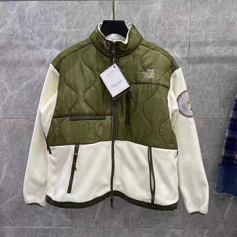 Readymade Fleece Nylon Splic Jacket Men Women 1:1High Quality Patchwork OutDoor Casual Chic Coat