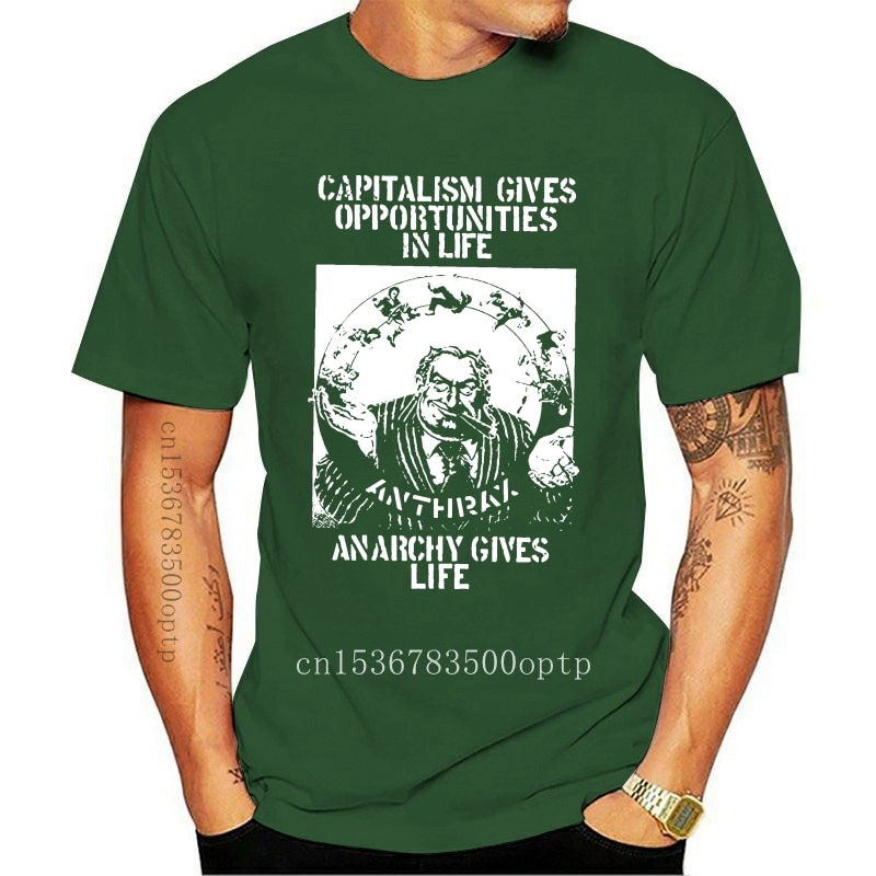 New Fashion 100% Cotton Men T Shirt Anthrax Capitalism Is Cannibalism 1982 Ep Album Cover T-Shirt