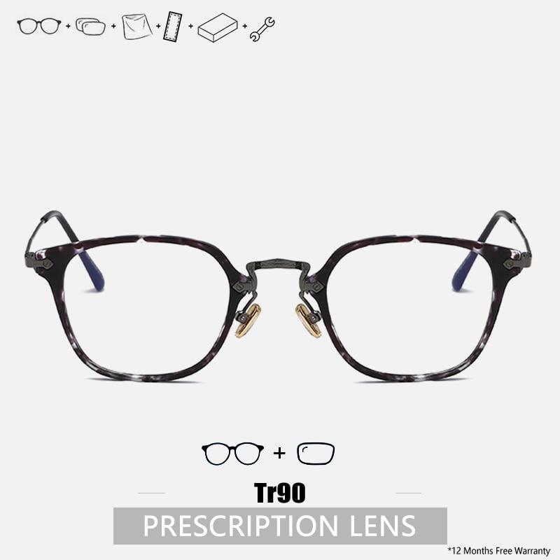 Prescription Glasses Men Progressive Glasses Tr90 Frame Women Designer Handmade Glasses Frame Square