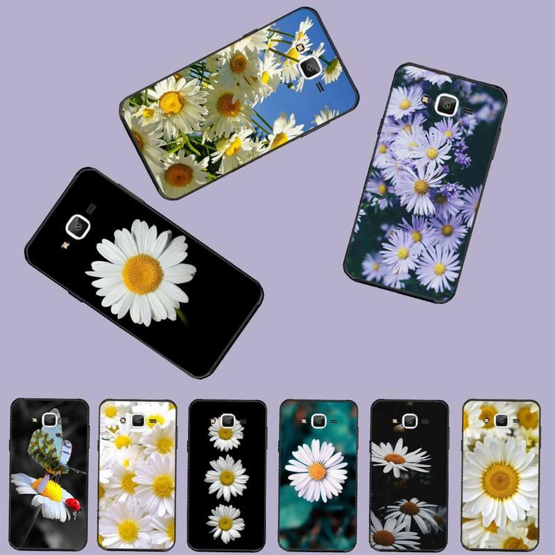 Funda de teléfono de flores margaritas flores negras carcasa blanda Capa para Samsung Galaxy J2 J4 J5 J6 J7 J8 2016 2017 2018 Prime Pro plus Neo duo
