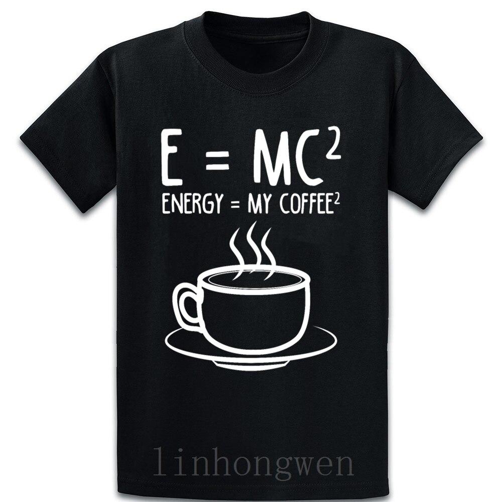 Camiseta café para amante del café E Mc2 energía mi camiseta ajuste primavera básica de otoño tendencia cuello redondo algodón diseño camisa de tendencia