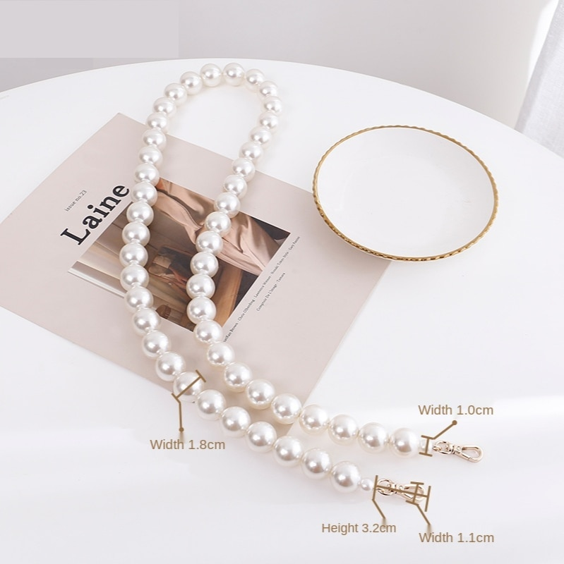 Women Slanted Shoulder Strap Fairy Pearl Chain Bag Accessories Hand-held Bag Chain Single Buy Bag Replacement Belt