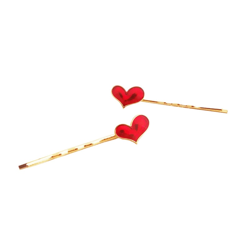 1Pcs New Fashion Women Girl Hairpins Heart Round Hair Clip Delicate Pin Decorations Jewelry Accessorie Arrival