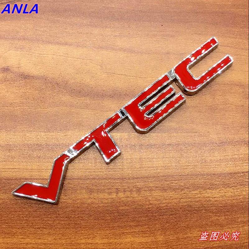1 Uds VTEC insignia 3D estilo de coche de Metal pegatina reequipamiento Fender cola maletero para Honda Civic acuerdo odisea Spirior