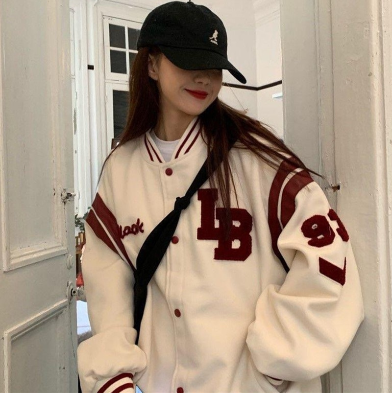 Harajuku BF jacket 2021 spring and autumn new loose Japanese college style baseball uniform mid leng
