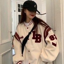 Harajuku BF jacket 2021 spring and autumn new loose Japanese college style baseball uniform mid leng