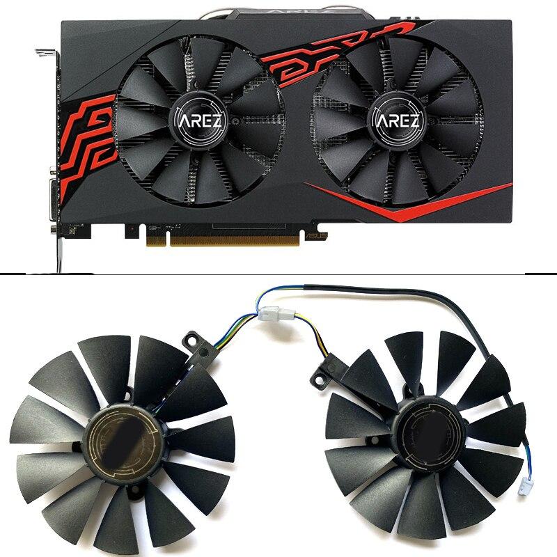 2pcs 87mm T129215SU PLD09210S12HH 4PIN RX580 Video Card Fan For ASUS EX-RX580 2048SP-8G  RX470 570 580 Cooling Fans
