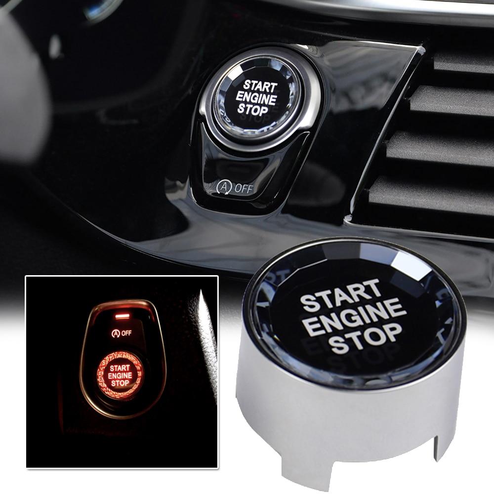 Алмазная кристаллическая кнопка включения для BMW G F серии F30 F10 G20 F48 G30 X3 G12 G01 G08 кнопка включения