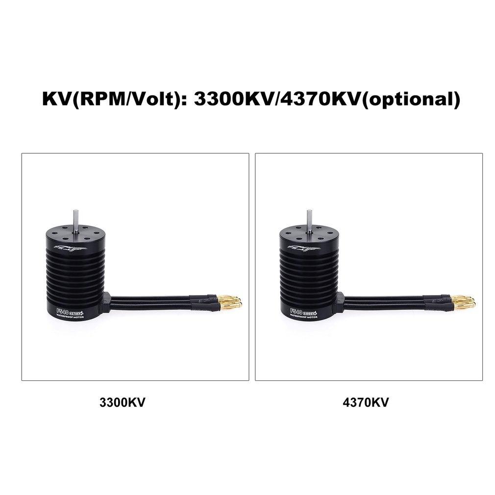 F540-V2 Motor Brushless Waterproof Sensorless For 1/10 RC Car Part 4370/3300KV enlarge