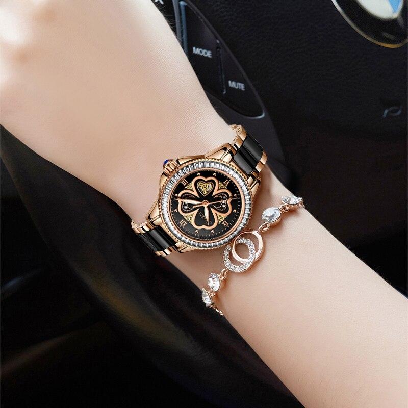 SUNKTA Luxury Brand Women Watches Dress Gifts Diamond Clocks Sport Femme Wrist Watch Bracelet Watches For Women Zegarek Damski enlarge