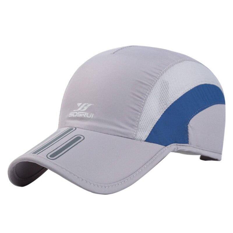 Novo verão homem respirável malha boné de secagem rápida chapéu osso snapback masculino escalada correndo esporte chapéus novo!