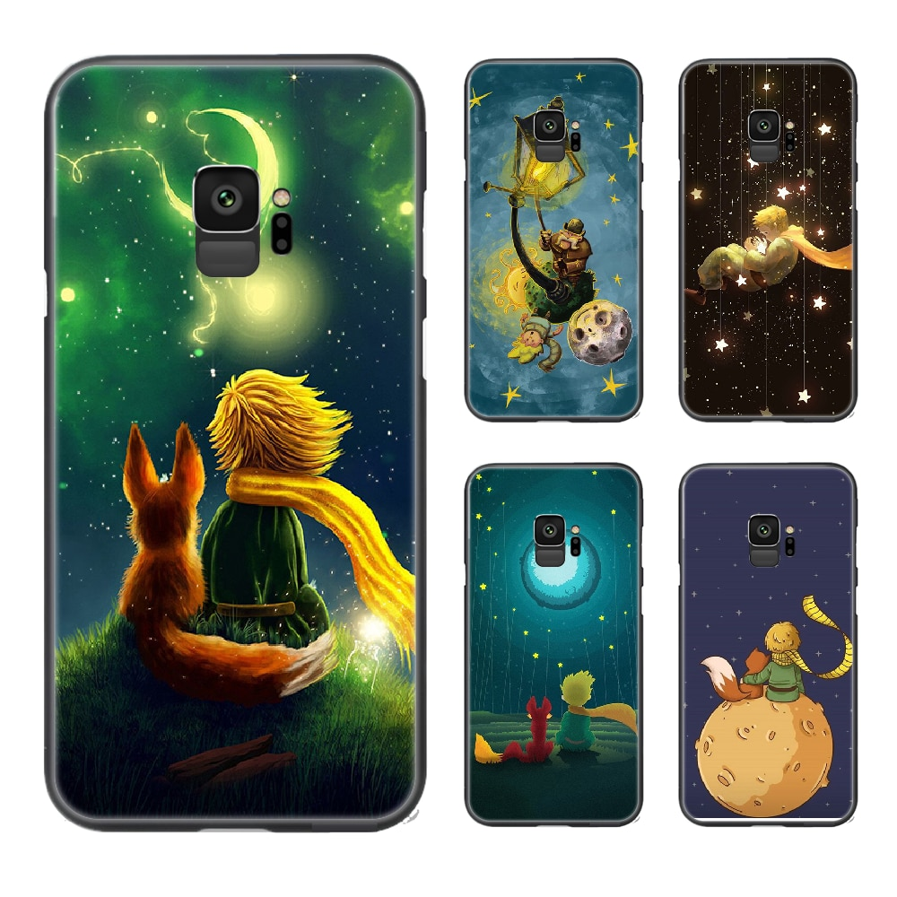 Le Petit Prince Phone Case Cover For Samsung Galaxy A10 A20 A30 E A40 A50 A51 A70 A71 J 5 6 7 8 S black hoesjes trend Etui