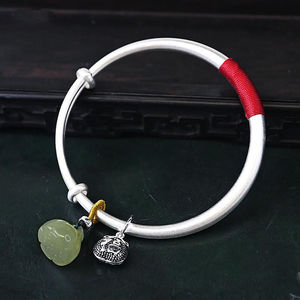 Three-dimensional lucky bag chalcedony lotus tent bracelet Chinese style retro ethnic style elegant charm ladies brand jewelry