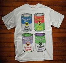 Comic Book T-Shirt Soup Can Bat Riddle Robin Hahahaha Movie Tv Super Hero Xmas