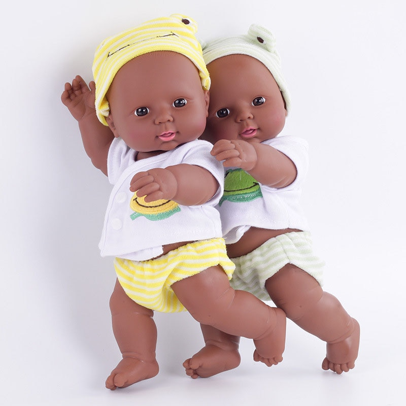 12 30cm recién nacido Reborn muñeca Africana bebé simulación suave vinilo niños baratos juguetes Navidad cumpleaños regalos