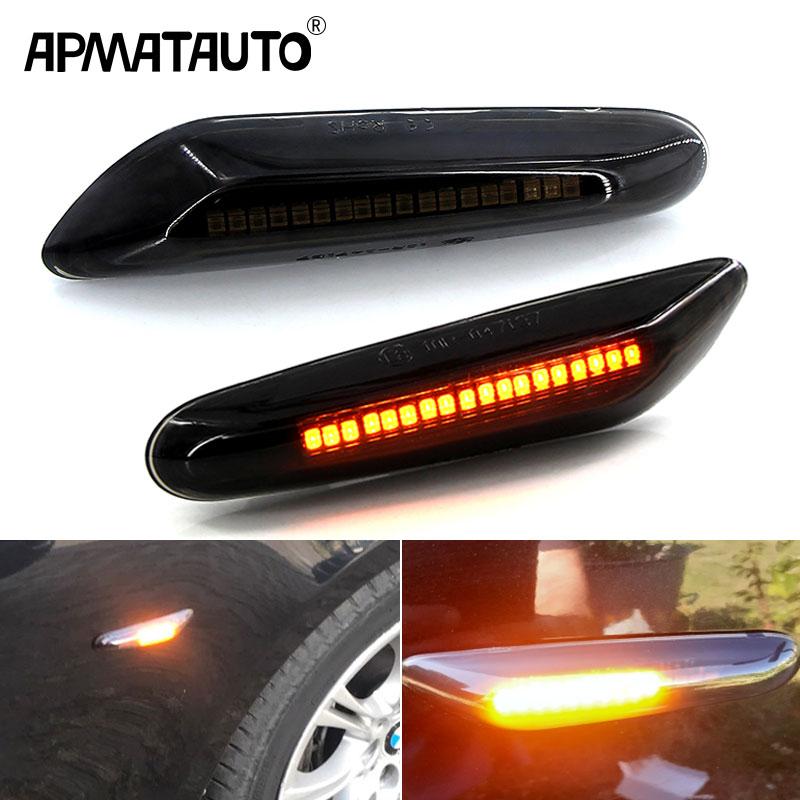 Bombilla de ámbar intermitente para coche de 2 uds. Para BMW E81/E82/E87/E88 E90/E91/E92/E93/E46 M3 E60/E61 1 3 5 X Series, luces de indicador lateral delantero