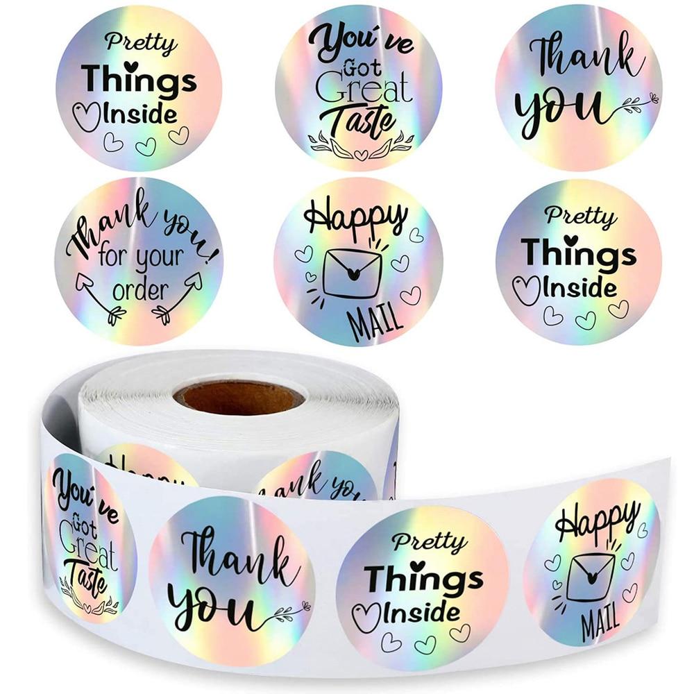 pegatinas-de-agradecimiento-por-mi-pequeno-negocio-etiquetas-adhesivas-de-arco-iris-plateado-envio-por-correo-100-500-uds
