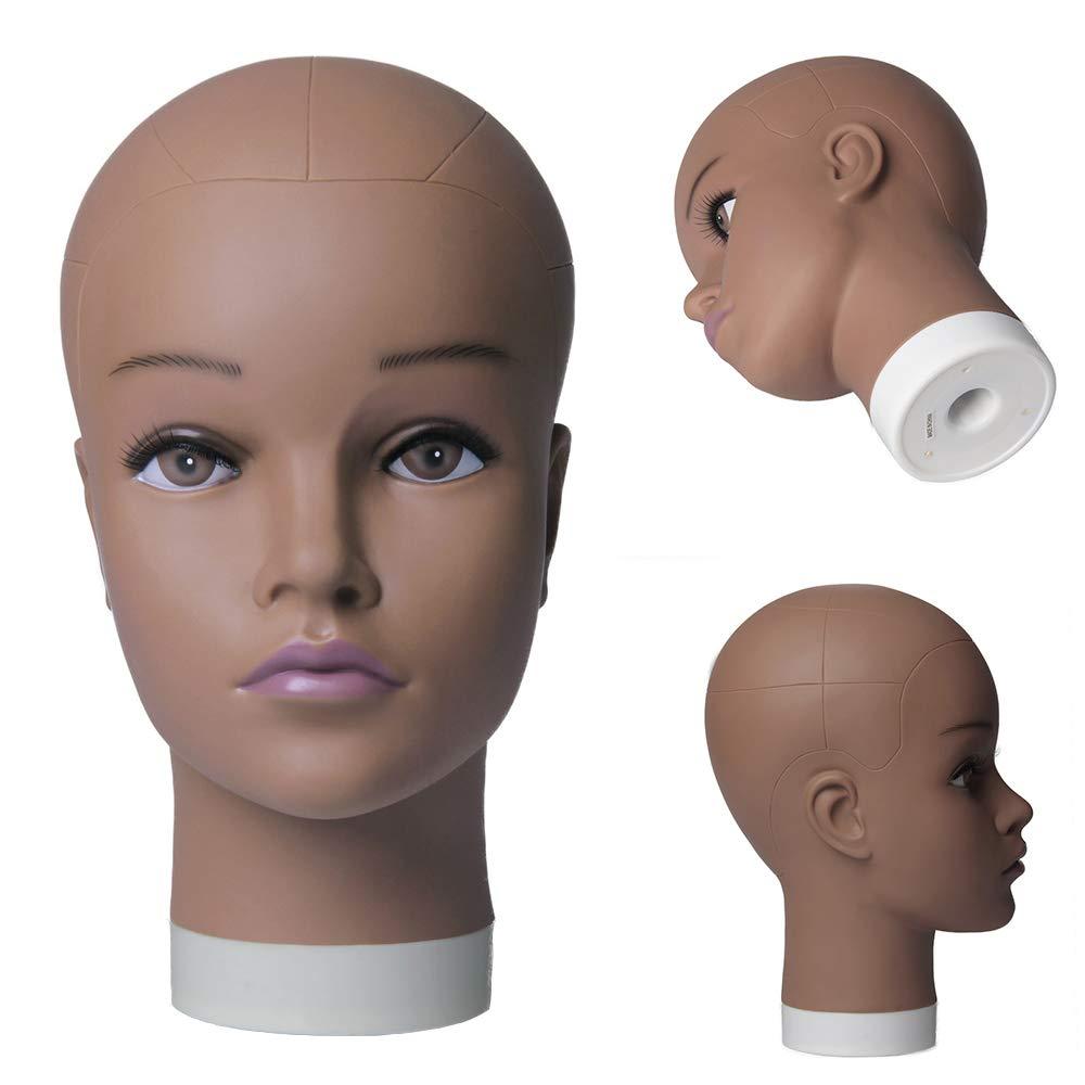 Suporte de Cabeça de Manequim Macio do Pvc Careca para Fazer Perucas de Estilo do Cabelo e Exibição de Chapéu Cosmetologia Formação Manequim Prática Cabeça