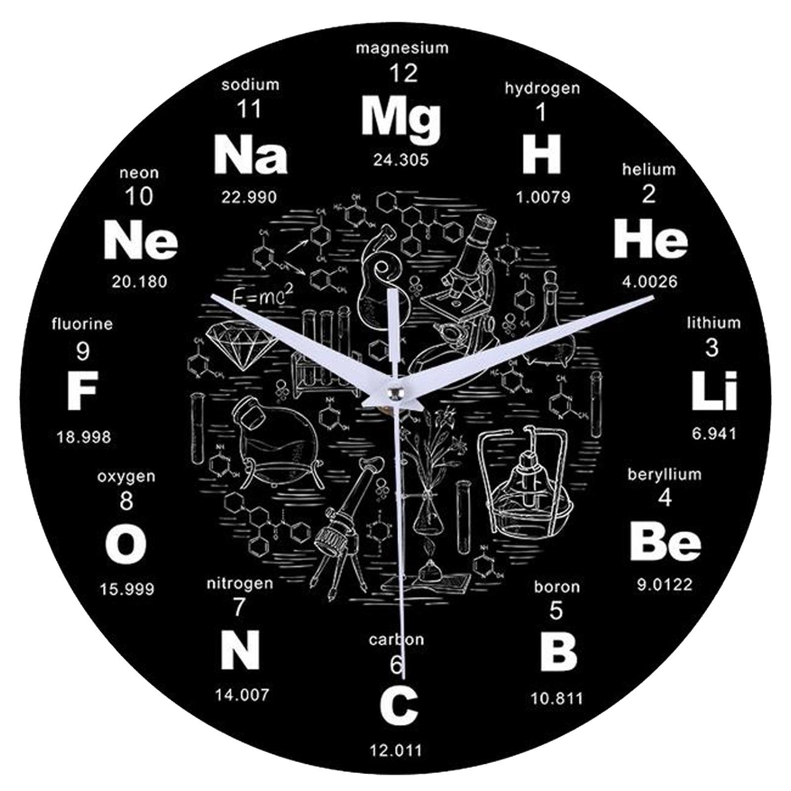 Reloj redondo silencioso de Pared para sala de estar, Reloj creativo de...
