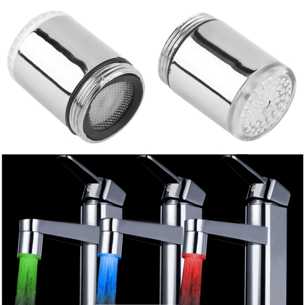kitchen LED faucet tap Water Taps accessory temperature faucets sensor Heads attachment on the crane